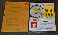 VTG 1962 Advertising Special Equipment Price List Willys Cutlas Wheel Covers N