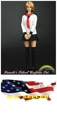 1/6 Women Clothes Female School Uniform set 1.0 Kumik Phicen Hot Toys ❶❶USA❶❶