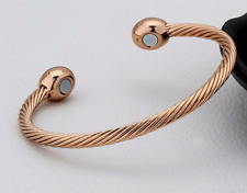 100 % Pure Magnetic Copper Bracelet Therapy Arthritis Healing Energy.