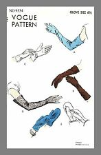 Vintage Vogue Gloves Mitten Mitt  Fabric material sewing pattern #9334