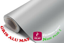 152 x 50 cm FILM VINYLE GRIS ALU MAT THERMOFORMABLE CAR WRAP TUNING DISCOUNT