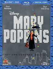 Mary Poppins (Blu-ray/DVD, 2013, 2-Disc Set, 50th Anniversary Edition;...