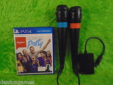 ps4 SINGSTAR ULTIMATE PARTY + 2 Câblés Singstar Microphones Jeux Playstation PAL