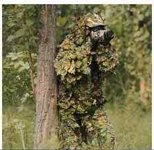 3D Real Tree leaf Camouflage Ghillie Suit  Hunting Bird Photography Military Pig
