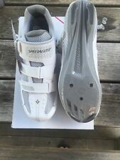NIB Specialized Women's Torch Road Shoes Size 39 EU, 8 US White/Silver 3 Bolt