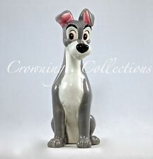 Disney Tramp Ceramic Figurine Lady and The Tramp Porcelain China Dog Vintage HTF