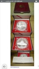 1989 china 12oz panda silver coin box coa
