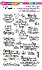 Spring Sentiments, Clear Unmounted Rubber Stamp Set STAMPENDOUS - NEW, SSC1239