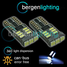 2X W5W T10 501 CANBUS ERROR FREE WHITE 18 SMD LED NUMBER PLATE BULBS NP103902
