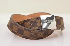 Authentic  Louis Vuitton Belt Damier Leather 80/32 76109