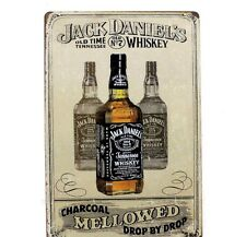 Jack Daniels Metal Vintage Tin placa pub Sign Pared Decoración Barra Cartel Tienda Retro