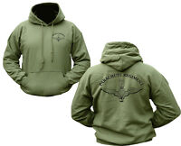 Parachute Regiment Hoody Double Print Military Army Hoodie Green Fleece Jumper