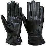 Gloves Men Gents big Gloves in Leather for Winter Season for Driving