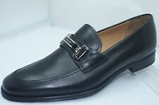 Bally Mens Black Shoes Tolio Loafers Drivers Size 9.5 Dress Slip Ons Leather NIB