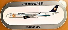 IBERWORLD, Airbus A330-300, Original, High Quality Print, new, HIGHLY RARE !!!