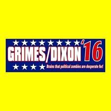 Funny RICK GRIMES - DARYL DIXON '16 The Walking Dead BUMPER STICKER, zombie, new