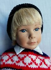 "Heidi Ott Little Ones later 12"" HEINZ Boy Doll w/ Freckles, hat & shoes"