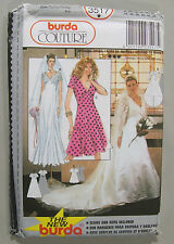 BURDA Couture 3517 Wedding Dress V-Neck Sewing Pattern UNCUT USA Size 8 - 18
