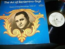 Beniamino Gigli-The Art Of-Allbum 2-Opera-LP-1922-47