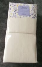 Ex store pair of cream 100% jersey cotton fitted unisex cot sheets BNWT