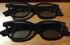 """VINTAGE 3D GLASSES """" REAL D 3D"""" BRAND  TWO PAIR"""