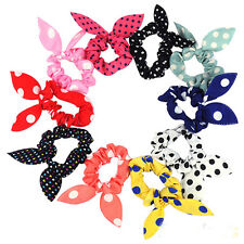 10PC Hot Fashion Girls Bunny Ear Headband Rabbit Ear Hair Band Bow Tie Wr New