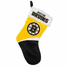 "Boston Bruins Holiday 17"" Christmas Stocking Team Logo New 2016"