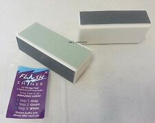2 x 4-ways FLASH SHINER Nail BUFFER /MIRACLE GLASS SHINE / Nail File MANICURE