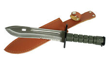 "12.75"" Defender Xtreme Serrated Blade Stainless Steel M9 Bayonet Knife with She"