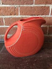 Fiesta Persimmon Large Disc Pitcher Homer Laughlin Company HLC Discontinued