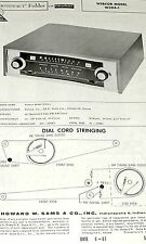 1961 Photofact Service Manual w-Schematic for WEBCOR W304-1 9 Tube FM-AM Tuner