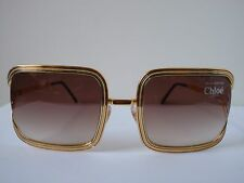 NEW Chloe 79S Gold Frame Sunglasses w/ Brown Fade Lens