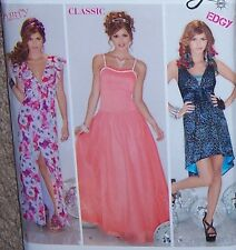 Evening Wedding GOWN prom Dress PATTERN 4-12 ballerina skirt v-neck FLIRTY WOW