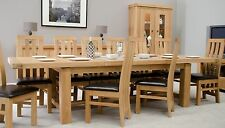 Houston solid oak furniture extra large grand extending dining table