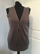 Gorgeous Zadig & Voltaire Taupe Cotton Andy Sleeveless Top Size S Good Condition