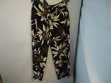 Autograph Wide Leg Chocolate Mix Trousers With Belt Size 12 Long