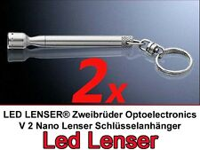 2x LED LENSER Zweibrüder Taschenlampe V2 Nano Schlüßelanhänger  rote Licht  7666