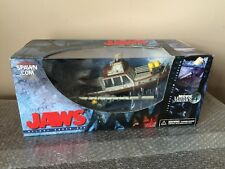 McFarlane JAWS DELUXE BOX SET 2001 Movie Maniacs 4 Factory Sealed QUINT ORCA