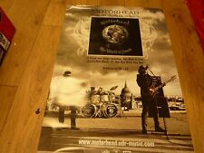 """MOTORHEAD THE WORLD IS YOURS  PROMO ALBUM POSTER 28""""X19"""" WITH FREE UK POSTAGE"""