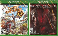 NEW/SEALED XBOX ONE LOT SUNSET OVERDRIVE & METAL GEAR SOLID V THE PHANTOM PAIN