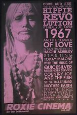HIPPIE REVOLUTION Roxie Cinema poster Today Malone Haight Ashbury Summer of Love