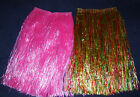 "Hawaiian Grass Hula Skirt Pink Multi 23""Long Fancy Dress Luau Summer Beach Party"