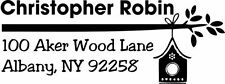 Address Stamp Self Inking Custom - Birdhouse - (BIRDHOUSE_01)