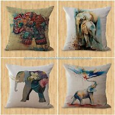 set of 4 cheap outdoor throw pillows cushion covers lucky Indian elephant
