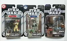 Hasbro Star Wars Classic Trilogy Power Droid Bossk & Han Action Figure Lot MOC