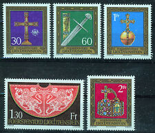 LIECHTENSTEIN 1975 MNH SC.567/571 Treasures of the Holy Roman Empire