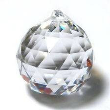 40mm Clear Faceted Glass Sphere Prism (1)