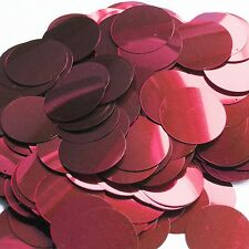 30mm Sequins Red Wine Burgundy Metallic. Made in USA