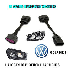 VW GOLF MK 6 BI XENON HEADLIGHT - ADAPTER WIRING HARNESS FACELIFT RETROFIT