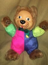BABY'S  'n THINGS LIGHT UP COLORFUL PINK GREEN BLUE YELLOW MUSICAL PLUSH BEAR